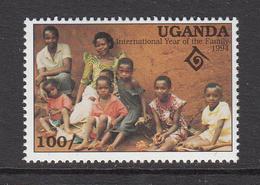 1994 Uganda Intl Year Of The Family Set Of 1 MNH - Uganda (1962-...)