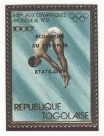 TOGO Perforated Gold Stamp Mint Without Hinge With Overprint Winner USA Diving - High Diving