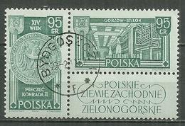 POLAND Oblitéré 1113-1114 Territoires De L'Ouest Armes Du Duc Conrad II De Sagan Usine De Fibre Synthétique à Gorzow - 1944-.... Republik
