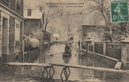 92 ASNIERES Inondations 1910  La Rue De L'Orne - Asnieres Sur Seine