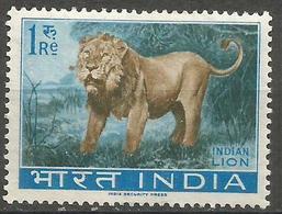 India - 1963 Lion 1r MLH *   SG 476  Sc 366 - Unused Stamps