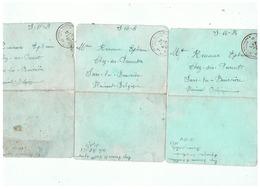 POSTE MILITAIRE BELGIQUE CORRESPONDANCE MILITAIRE DE SARS LA BUISSIERE 1924 - 1914-18