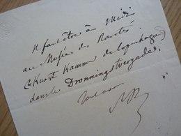 Alexis De SAINT PRIEST (1805-1851) Historien ACADEMIE FRANCAISE. AUTOGRAPHE à Tourgueneff - Autographs