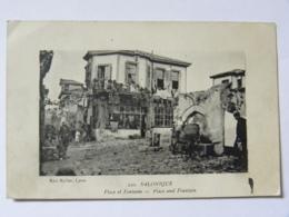 CPA GRECE - Salonique - Place Et Fontaine - Griechenland
