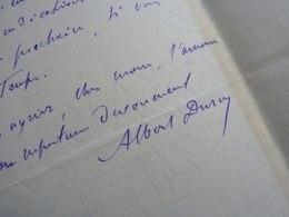 Albert DURUY (1844-1887) Journaliste. Fils VICTOR DURUY. Autographe [ Instruction Publique ] - Autographs