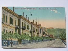 CPA GRECE -Souvenir De  Salonique -  Boulevard Roi Constantin - Griechenland