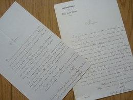 Adolphe BERTY (1818-1867) Historien Historiographie PARIS. Topographe. Architecture. 2 X AUTOGRAPHE - Autographes