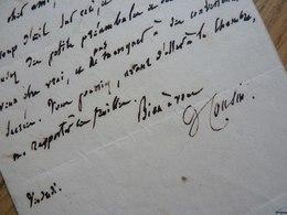 Victor COUSIN (1792-1867) Philosophe - AUTOGRAPHE - Ecole éclectique - Autographes