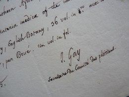 Jacques Etienne GAY (1786-1864) BOTANISTE, élève Gaudin. GAYA. SUISSE. AUTOGRAPHE - Autografi