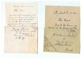 CORRESPONDANCE MILITAIRE DE SARS LA BUISSIERE 1924 - 1914-18