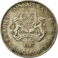 Monnaie, Singapour, 20 Cents, 1987, British Royal Mint, TB+, Copper-nickel - Singapour