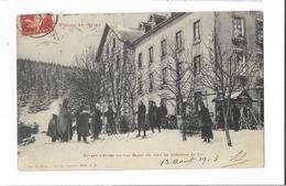 Cpa ORBEY- LAC BLANC - L'Hôtel  Concours De SKI 1908 - Orbey