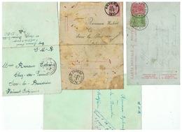 CORRESPONDANCE MILITAIRE DE SARS LA BUISSIERE 1891 1921 1924 - 1914-18