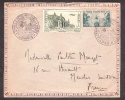 """La France D'Outre-mer Dans La Guerre - 1945 - Enveloppe + Vignette """"Collection Impériale D'Aviation"""" - France"""