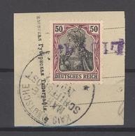 Dt. Bes. 1. WK, Briefstück Mit 50 Pfg. Und Stempel Libau (5102_5) - Occupation 1914-18