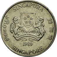 Monnaie, Singapour, 50 Cents, 1989, British Royal Mint, TTB, Copper-nickel - Singapour