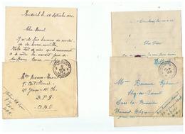 CORRESPONDANCE MILITAIRE  POUR SARS LA BUISSIERE 1924 - 1914-18