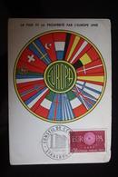 Carte Maximum Card France-1960 Europa-Cept  CEPT  Obiitéré PJ Strasbourg - Cartoline Maximum