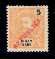 ! ! Inhambane - 1917 D. Carlos Local Republica 5 R - Af. 89 - MH - Inhambane