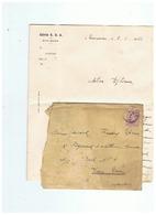 ARMEE BELGIQUE CORRESPONDANCE MILITAIRE  POUR SARS LA BUISSIERE 1922 - 1914-18