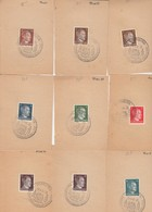 SUR FRAGMENTS. REICH.  11 GROS CACHETS DORNBIRN 20 4 45 +1 PETIT.  2 SCANS  / 2 - Allemagne