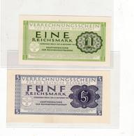 1 + 5 Reichsmark, Verrechnungsscheine Für Die Deutsche Wehrmacht - 1933-1945: Drittes Reich