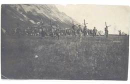 Photo Soldats, Col De La Madeleine ( Colle Della Madallena 1923 ), Chasseurs Alpins ? Soldats Italiens ? - Guerre, Militaire