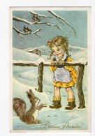 957 - BONNE ANNEE - Petite Fille Et écureuil - New Year
