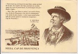 """L20J003 - Frédéric Mistral - """"Nissa, Cap De Procença"""" - Discours En Provencal - Création Estello N°8438 - Ecrivains"""