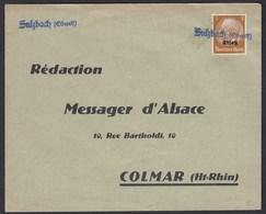 Behelfstempel Sulzbach (Oberelsaß) Auf 3 Pfennig Elsaß Mi. 1  (22177 - Occupation