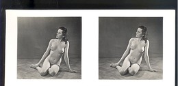 Ancienne Vue Stéréoscopique Femme Nue Erotique 6 X 13 Cm Martins Kunstmappen - Stereoscopic