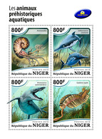 NIGER 2018 - Ammonite, Water Prehistorics. Official Issue - Conchiglie