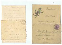 ARMEE BELGIQUE CORRESPONDANCE MILITAIRE  POUR SARS LA BUISSIERE 1924 - 1914-18