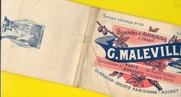 Catalogue 1899 Cycles & Automobiles Gladiator, Rochet...MALEVILLE Libourne 16 Pages + Couverture Format 22 X 14 Cm Env.. - Ciclismo