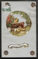 CPA FANTAISIES - Carte Celluloïd Joyeuses Pâques - Easter
