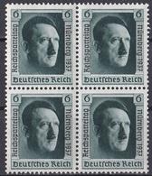 Ro_ Deutsches Reich -  Mi.Nr. 650 Viererblock Aus Block 11 - Postfrisch MNH - Deutschland