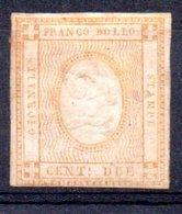 Italie ;  1862 ; N° Y : 1 ;  N *;charnière ; Cote Y: 30.00 E. - 1861-78 Victor Emmanuel II