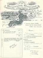 MUSCULINE GUICHON &  L' EXTRAIT FLUIDE DE QUINA PREPARES AU MONASTERE DE N . D . DES . DOMBES PAR MARLIEUX ( Ain ) 1945 - France