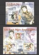 A024 2011 TOGO TOGOLAISE MUSIC FAMOUS PEOPLE AMERICAN ROCK STAR ELVIS PRESLEY BOB DYLAN KB+BL MNH - Elvis Presley