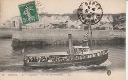 Seine-maritime : DIEPPE : Le Duquesne Rentrant De Promenade ( Bateau ) - Dieppe