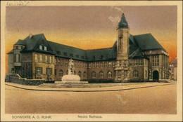 Ansichtskarte Schwerte Partie Am Rathaus 1924 - Deutschland