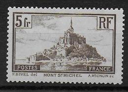 1929 - YVERT N° 260a ** MNH TYPE I - COTE = 50 EUR. - MONT SAINT MICHEL - France