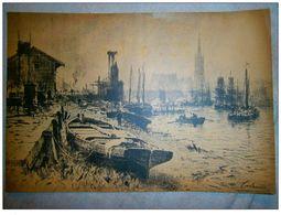 Gravure Signé Lalanne,xxème - Engravings