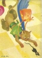 """Image MENIER N° 21 Par Jean Adrien MERCIER - Album """"Il était Une Fois"""" - Le Chat Botté - 1953 - TBE - Chromos"""