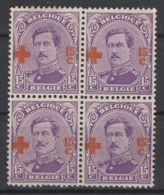 Belgique. 1918. COB N° 154 X 4  * (mais J'en Compte Seulement 3 Le 4 Est NC). Cote 2018 : 24 € - 1918 Croix-Rouge