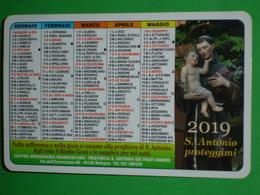 Anno 2019 - S.ANTONIO Da PADOVA - Bologna.via Dell'Osservanza.Centro Francescano Frati Minori/ Calendarietto - Calendari