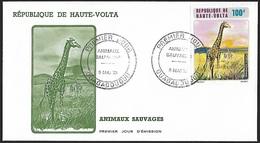 1973 - HAUTE-VOLTA - FDC + Y&T 140 (PA)[Giraffa Camelopardalis] + OUAGADOUGOU - Haute-Volta (1958-1984)