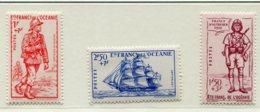 10347  OCEANIE  N°135/7 **  Défense De L'Empire  1941  TB/TTB - Oceania (1892-1958)