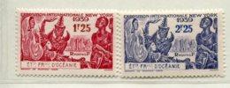 10348 OCEANIE  N°128/9 **  Exposition Internationale De New-York  1939  TB/TTB - Oceania (1892-1958)