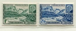 10349 OCEANIE  N°138/9 **  Vallée De Fataoua Et éffigie Du Maréchal Pétain  1941   TB/TTB - Oceania (1892-1958)